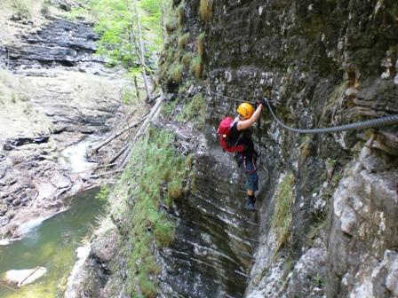 Klettersteig Postalm : Postalmklettersteig d climb and hike