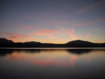 Abendstimmung am Faaker See