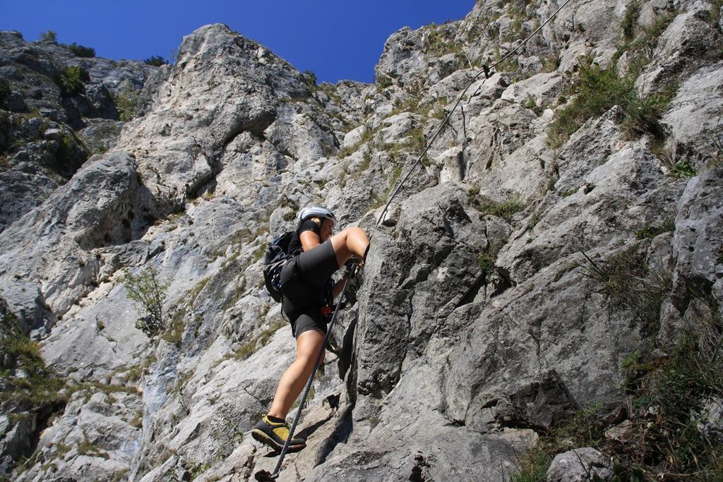 Klettersteig Mondsee : Drachenwand klettersteig c climb and hike