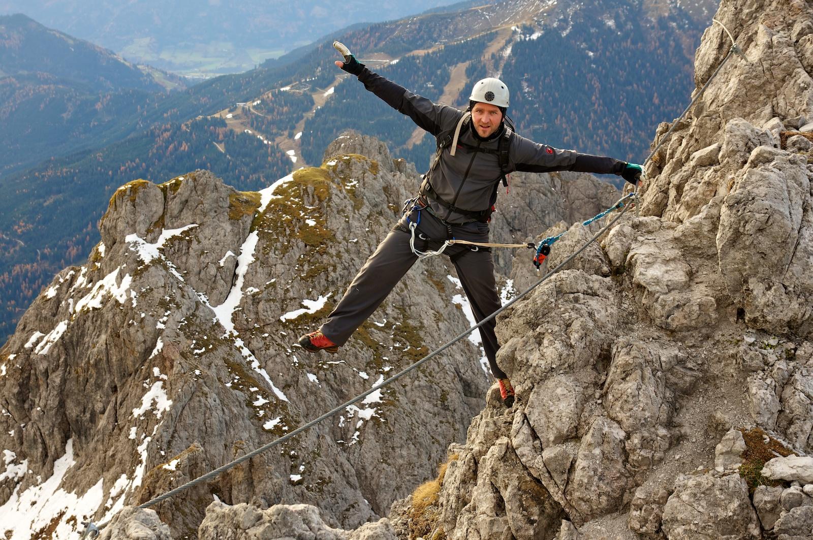 Klettersteig Königsjodler : Königsjodler klettersteig c d climb and hike