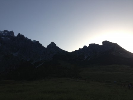Kurz vor Sonnenaufgang ging es los Richtung Erichhütte!