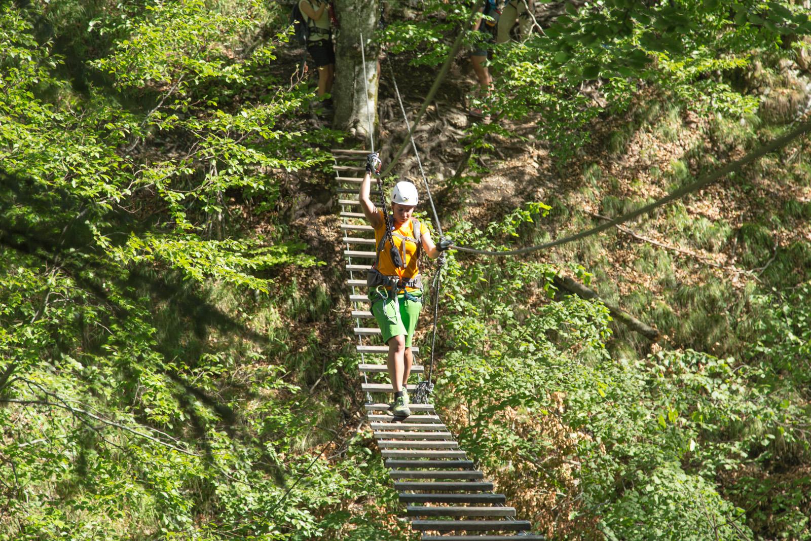 Postalm Klettersteig F Variante : Postalmklamm klettersteig mit f variante bergsteigen