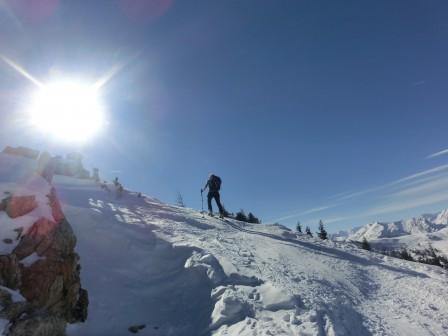 Gipfelsanstieg