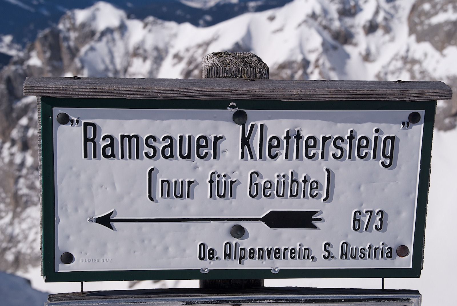 Ramsauer Klettersteig, Winterbegehung
