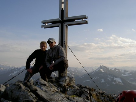 Gipfelfoto mit Panorama