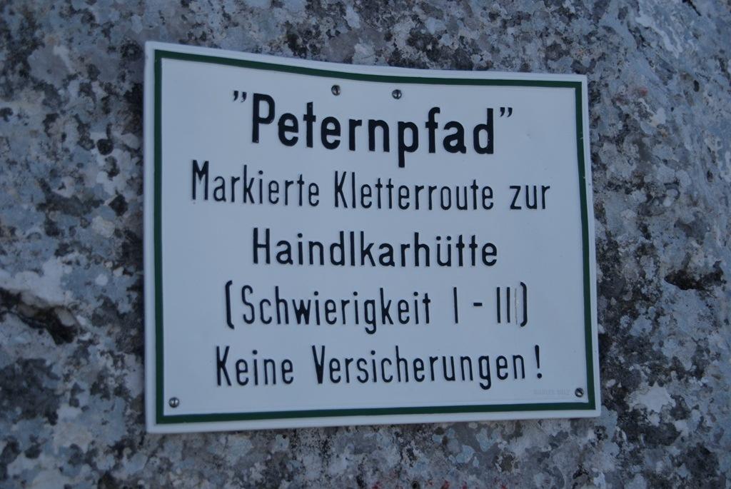 Hochtor (2.369) über Peternpfad (II) und Dachlgrat (II+)