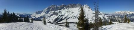 Blick vom Gipfel des Hochkeils Richtung Mandlwand